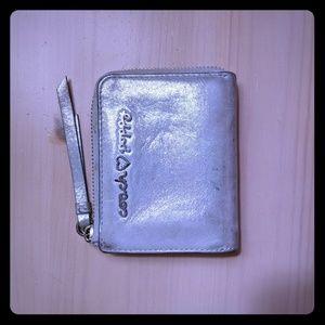 Coach Metallic Silver Poppy Wallet
